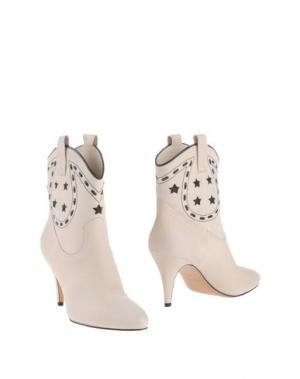 Полусапоги и высокие ботинки MARC JACOBS. Цвет: слоновая кость