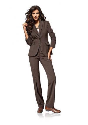 Брючный костюм Class International. Цвет: серо-коричневый, серый меланжевый, темно-синий