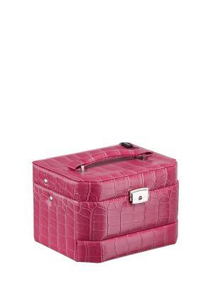 Шкатулка S-502E искусственная кожа ПВХ Ismat. Цвет: розовый