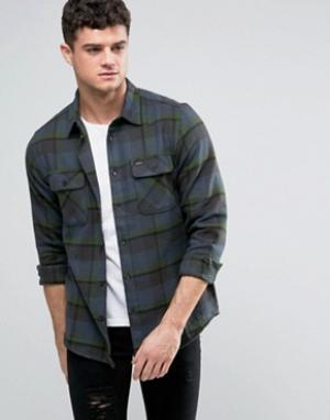 RVCA Фланелевая рубашка с карманами клапанами. Цвет: темно-синий