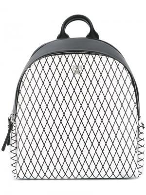 Рюкзак с сетчатым принтом MCM. Цвет: чёрный