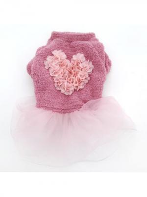 Платье S JOY. Цвет: розовый