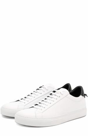 Кожаные кеды на шнуровке Givenchy. Цвет: белый