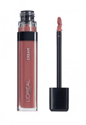 Блеск для губ LOreal Paris L'Oreal. Цвет: коричневый