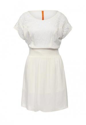 Платье Baon. Цвет: бежевый