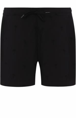 Хлопковые плавки-шорты с карманами Tomas Maier. Цвет: черный