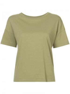Классическая футболка Organic By John Patrick. Цвет: зелёный