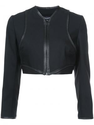 Укороченная куртка на молнии Narciso Rodriguez. Цвет: чёрный