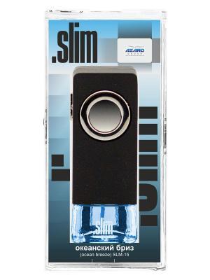 Ароматизатор в дефлектор Slim Океанский бриз AZARD. Цвет: черный