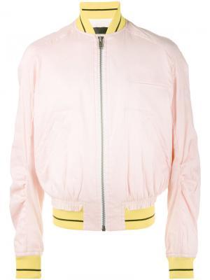 Куртка-бомбер на молнии Haider Ackermann. Цвет: розовый и фиолетовый