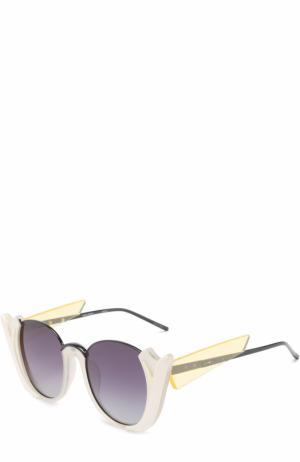 Солнцезащитные очки Prabal Gurung. Цвет: белый
