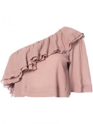 Блузка на одно плечо Apiece Apart. Цвет: телесный