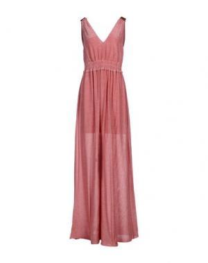 Длинное платье GARAGE NOUVEAU. Цвет: коралловый