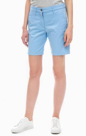 Синие хлопковые шорты Gant. Цвет: синий
