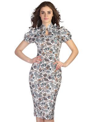 Платье OLIVEGREY. Цвет: белый, зеленый