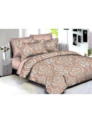 Комплект постельного белья Buenas noches Samarkand из люкс сатина 2-спальный Евро. Цвет: бежевый, молочный