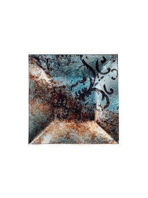 Блюдо 31х31см Elff Ceramics. Цвет: голубой, черный, серый, коричневый