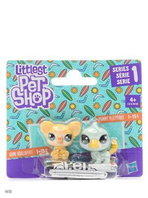 Набор два пета Littlest Pet Shop. Цвет: желтый, голубой