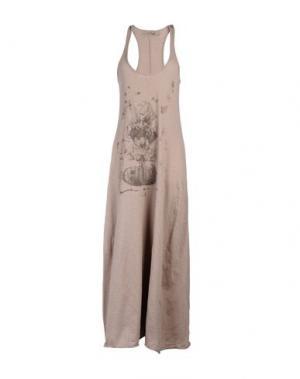 Длинное платье DAPHNE. Цвет: голубиный серый
