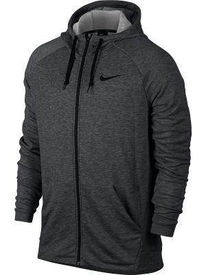 Толстовка M NK DRY HOODIE FZ FLEECE Nike. Цвет: темно-серый