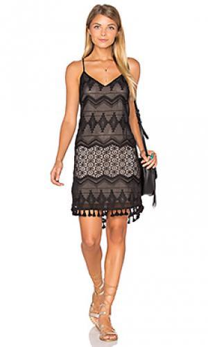 Платье-кроше Eight Sixty. Цвет: черный