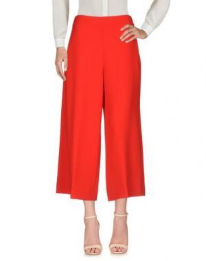 Повседневные брюки CENTOQUATTRO. Цвет: красный