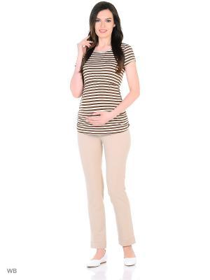 Блузка для беременных и кормящих ФЭСТ. Цвет: коричневый, молочный