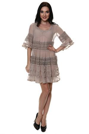 Платье-туника By ti Mo. Цвет: бежевый