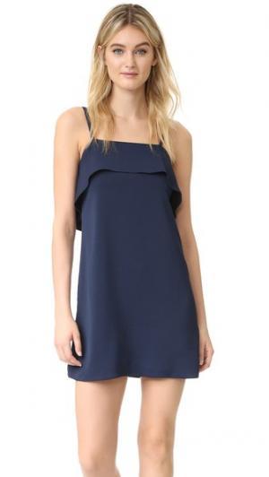 Платье-комбинация Etta с оборками alice + olivia. Цвет: сапфир