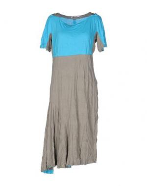 Платье до колена OBLIQUE CREATIONS. Цвет: серый