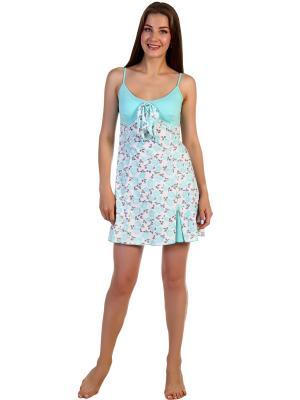 Ночная сорочка Соцветие Vilana. Цвет: салатовый, белый