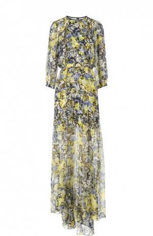Вечернее платье с поясом Erdem. Цвет: желтый