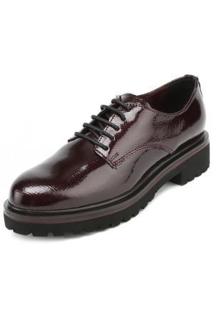 Ботинки на шнурках MARCO TOZZI PREMIO. Цвет: бордовый