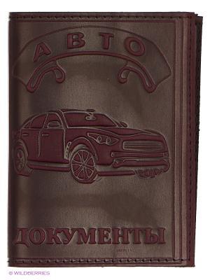 Обложка для автодокументов и паспорта JD.ZARZIS. Цвет: коричневый