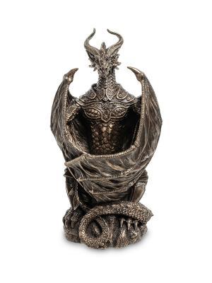Статуэтка с подстветкой Дракон Veronese. Цвет: бронзовый