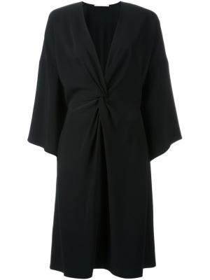 Платье-кимоно Rosetta Getty. Цвет: чёрный