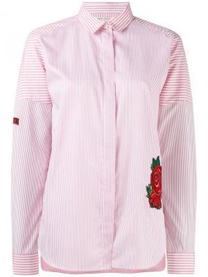 Рубашка в полоску Each X Other. Цвет: красный