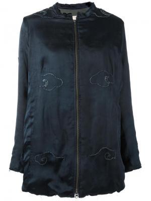Куртка свободного кроя на молнии By Walid. Цвет: синий
