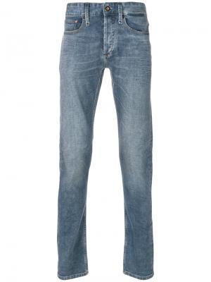 Выбеленные джинсы Denham. Цвет: синий