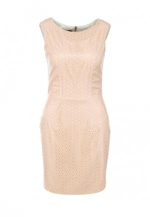 Платье Hybrid. Цвет: бежевый