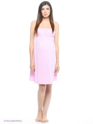 Сорочка для беременных и кормящих FEST. Цвет: розовый