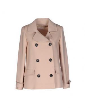 Пальто TOMASO. Цвет: бежевый