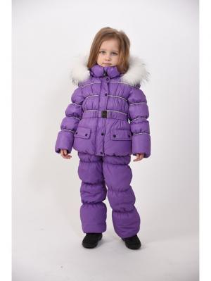 Куртка+полукомбинезон TOPKLAER. Цвет: сиреневый