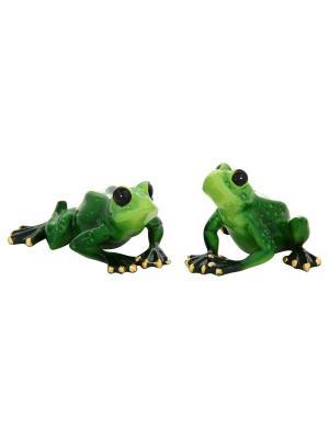Фигурка декоративная Лягушки-путешественницы Elan Gallery. Цвет: зеленый
