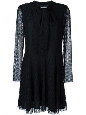 Кружевное платье мини Philosophy Di Lorenzo Serafini. Цвет: чёрный