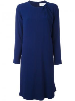 Платье шифт Gianluca Capannolo. Цвет: синий