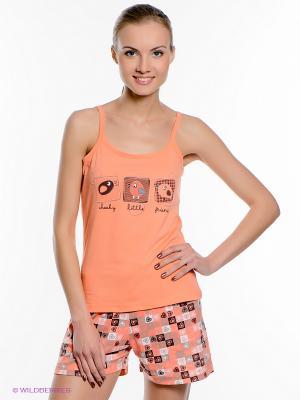 Пижама Vienetta Secret. Цвет: светло-оранжевый