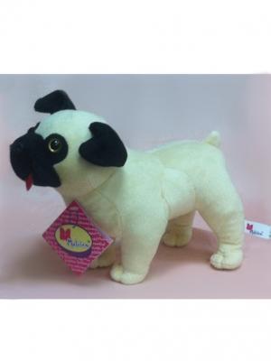 Мягкая игрушка Мопс, Malvina. Цвет: бежевый