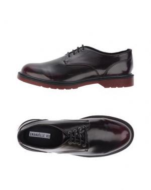 Обувь на шнурках EMANUÉLLE VEE. Цвет: красно-коричневый