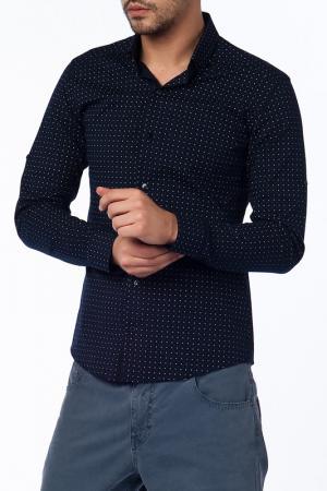 Рубашка Saint loren. Цвет: синий